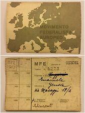 195) Tessera Movimento Federalista Europeo