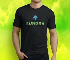 New Popular Aurora Cannabis Inc Cannabis Weed Marijuan Men's Black T-Shirt S-3XL