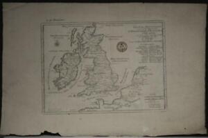 UNITED KINGDOM & IRELAND 1705 DE FER UNUSUAL ANTIQUE COPPER ENGRAVED MAP