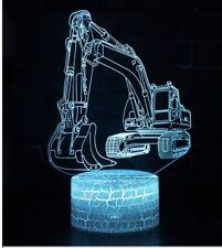 3D Excavator Night Light