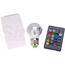 4Pcs E27 16 Colors Dimmable 3W RGB LED Light Bulb + IR Remote for Party KTV Club