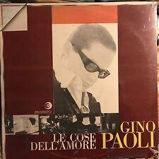 GINO PAOLI • Le Cose Dell'Amore • Vinile Lp • Nuovo Parzialmente Sigillato