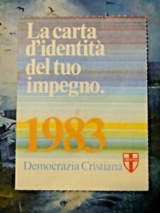 TESSERA DEMOCRAZIA CRISTIANA - 1983 -