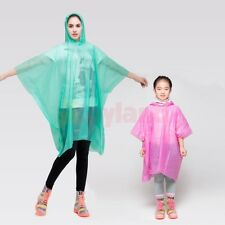 ADULT KIDS WATERPROOF PONCHOS RAIN COVER PROTECTOR CAMPING HOLIDAY THEME PARK