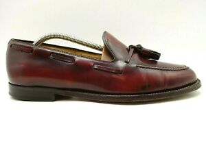 Brooks Brothers 346 Burnished Burgundy Leather Tassel Loafers Shoes Men's 10