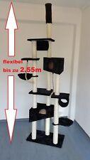 Deckenhoher Katzenbaum Kratzbaum, Neu und ungebraucht, Plüsch Schwarz Q4-BK