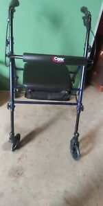 Carex Rollator Walker with Adjustable Height and Seat