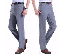 Mens Pants Business Casual Straight Leg Trousers Slacks Blazer Suit Formal Pants