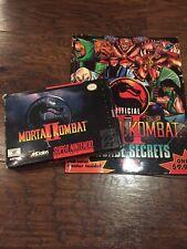 Mortal Kombat II (SNES) with Box/Manual and Arcade Secrets Guide