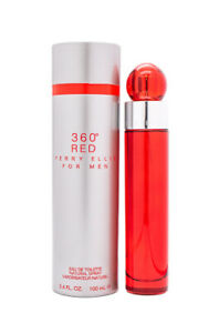 360 Red by Perry Ellis 3.4 oz EDT Cologne for Men New In Box