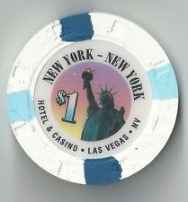 $1 LAS VEGAS NEW YORK NEW YORK 1ST EDT CASINO CHIP STATUE OF LIBERTY