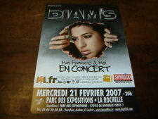 DIAM'S - RARE FLYER MA FRANCE A MOI - CONCERT FEVRIER 2007 !!!!!!!!!!!!!!!!