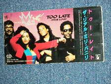 """REAL MILLI VANILLI Japan 1991Tall 3"""" CD Single TOO LATE"""