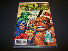 SIGNED PETER DAVID HEROES REBORN THE RETURN #4 MARVEL COMICS THING SPIDER-MAN