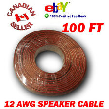 100 FT 30m High Definition 12 Gauge 12 AWG Speaker Wire Cable Home Theater HDTV