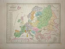 1833 Genuine Antique map of Ancient Europe. Malte-Brun