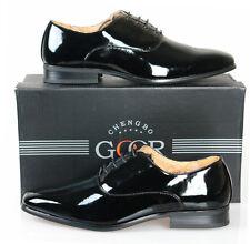 Goor Mens Patent Oxford Tie Dinner Formal Wedding Uniform Dress Shoes Black UK 13