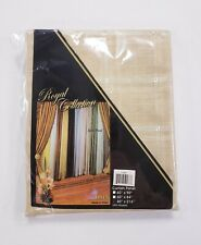 Violet Linen Royal Plaid Sheer Window Curtain Scarf Beige 40x216""