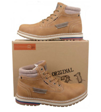 Mens Tan Leisure Casual Ankle Boots Brown Lace Up