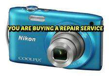 NIKON CoolPix S3300 or S3500 REPAIR SERVICE for your BROKEN DIGITAL CAMERA-