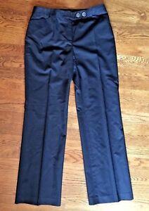 NWOT ANN TAYLOR Size 2P Women's Black Dress Pants Side Button Waist