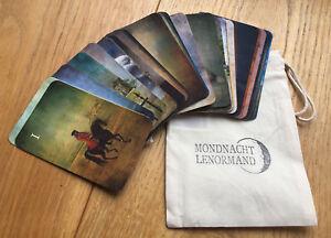 Mondnacht Lenormand Kartendeck - Wahrsagekarten - Orakelkarten - Spielkarten