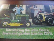 John Deere Lawn & Garden Line Sales Brochures 1979