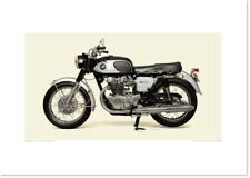 Realistic Artwork Honda 1965 Honda Dream CB450 by Seevert Works