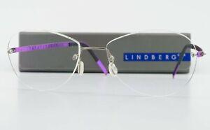Lindberg Glasses Spirit Titanium 135 Col.P77 Purple Rimless Minimal Lady Denmark
