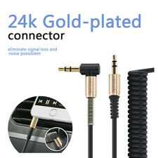 Aux Cable 3.5mm Male to Male Cord L-Shaped Right Angle Car Audio Headphone UK