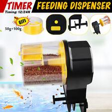 Automatic Fish Food Feeder Timer Pet Aquarium Tank Pond Dispenser +2 Feeding Kit