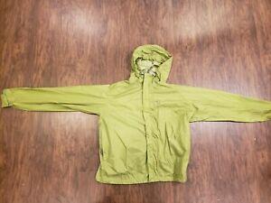 Sierra Designs Lightweight Packable Hooded Rain Jacket Size Medium green