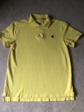 Express Pique Polo Bright Yellow Size Medium Short Sleeve Modern Fit