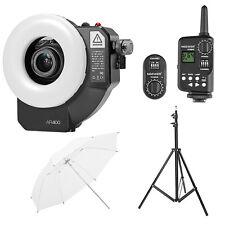AR400 400W Macro LED Ring Flash Video Lighting Kit for Canon Nikon Sony DSLR