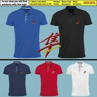 Suzuki Hayabusa Slim Fit Polo T Shirt EMBROIDERED Auto Logo Tee Mens Motorcycle