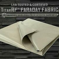 "New TitanRF Faraday Fabric 44"" x 36"" Extra 36"" Military Grade Certified RFID EMF"