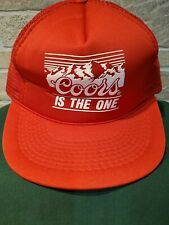 Vintage Coors Is The One Snapback Trucker Mesh Red Hat