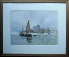 ROBERT WEIR ALLAN 1852-1942 VENICE LAGOON 1881 SCOTTISH LISTED ART WATERCOLOUR