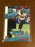2019 Donruss Football Donruss Threads Red Jersey - Jadeveon Clowney - Texans