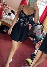 Miss Selfridge Size 8 Black Lace Playsuit
