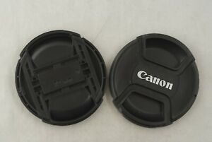 Two Canon 72mm Front Lens Caps in Excellent Condition