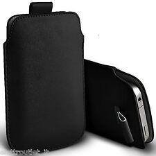 Custodia COVER borsa Pull Tab SACCHETTO per Apple iPhone 5 5C 5S Nero