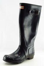 Hunter Boot Sz 7 M Rain Boot Round Toe Black Synthetic Women