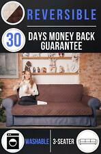 Deluxe Original Reversible Sofa Cover. Heavy and Durable 270 GSM Fabric
