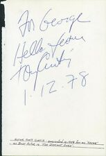 TONY CURTIS - AUTOGRAPH NOTE SIGNED 01/12/1978