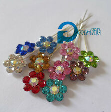 scarf pin hijab flower pin 6 different colors 12pc/lot