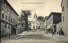 Somersworth NH Church & Fore St. c1910 Postcard