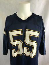 VTG Starter Junior Seau San Diego LA Chargers NFL Blue Football Jersey 48 Large