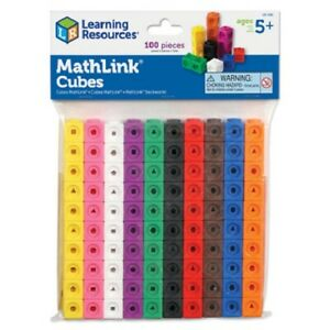 Mathlink Cubes (Set of 100) from Learning Resources | KS1 Maths Resource