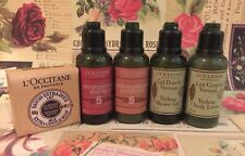 New Loccitane travel 5pc set Shampoo Conditioner Shower gel Body lotion Soap